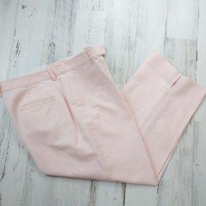 🌿 Liz Claiborne Linen Capri Pants Size 12 Pink
